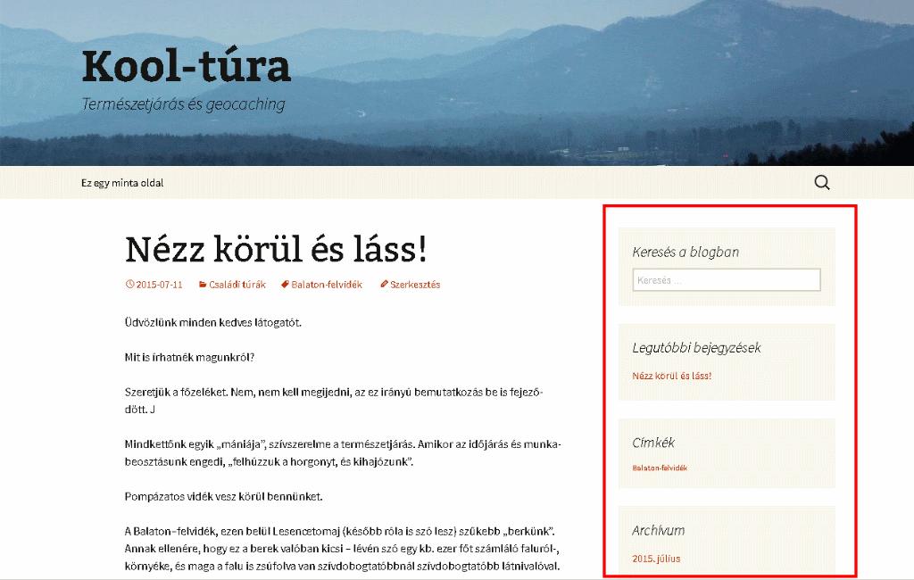 Wordpress widgetek - Olcsó weboldal készítés